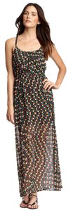 Multi Color Geometric Patern Maxi Dress by Socialite