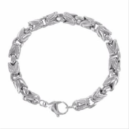 Other Mens Stainless Steel Chain Bracelet Thick White Gold Tone Mm Heavy 200 Grams