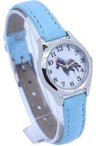 Other Ladies Silver & Blue Quartz Horse Watch Free Shipping