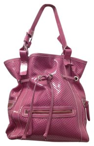 NICOLI Patent Leather Fucsia Large Shoulder Bag