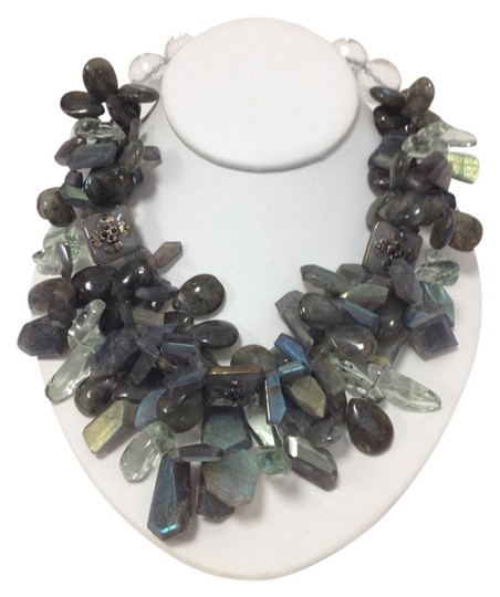 Other Green Labradorite Natural Semi Precious Stones Necklace