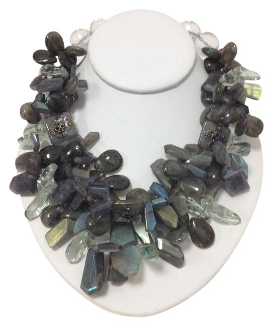 Green Light Labradorite Natural Semi Precious Stones Necklace Green Light Labradorite Natural Semi Precious Stones Necklace Image 1
