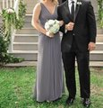 Wtoo Gray Polyester Formal Bridesmaid/Mob Dress Size 2 (XS) Image 0