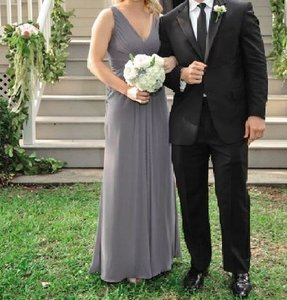 Wtoo Gray Polyester Formal Bridesmaid/Mob Dress Size 2 (XS)