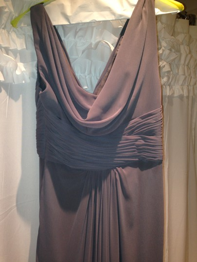 Wtoo Gray Polyester Formal Bridesmaid/Mob Dress Size 2 (XS) Image 5