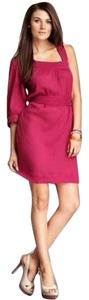 French Connection short dress Berry Crinkled Cotton Gauze One Shoulder on Tradesy