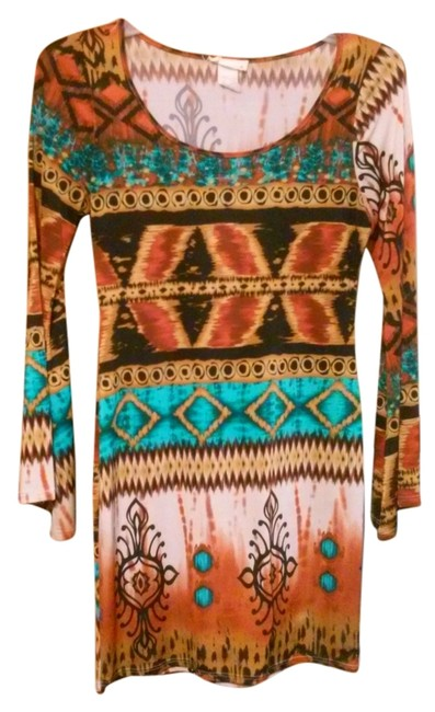 Preload https://img-static.tradesy.com/item/6723616/multicolor-tribal-print-short-casual-dress-size-14-l-0-1-650-650.jpg