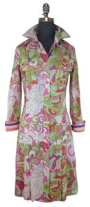 Etro short dress Pink Lime White and Purple on Tradesy