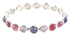 Ippolita Ippolita Red Purple Pink Stone Silver Bangle Bracelet Wonderland Aruba Size 1