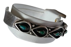 Santa Fe Art Gallery in the square Turquoise and silver bracelet