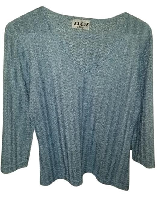Preload https://item1.tradesy.com/images/blue-34-sleeve-knit-blouse-size-4-s-6725545-0-0.jpg?width=400&height=650