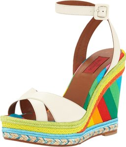 Valentino Rockstud Louboutin Multicolor Wedges