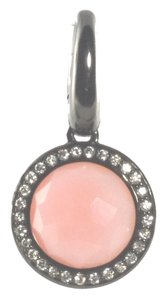 Ippolita Ippolita Black Sterling Silver Pink Opal Diamond Lollipop Charm Pendant .925 New