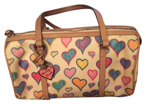 Dooney & Bourke Satchel in White & multicolor