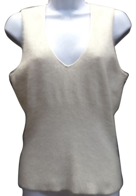 Preload https://img-static.tradesy.com/item/6725854/kenneth-cole-ivory-sleeveless-m-blouse-size-8-m-0-1-650-650.jpg