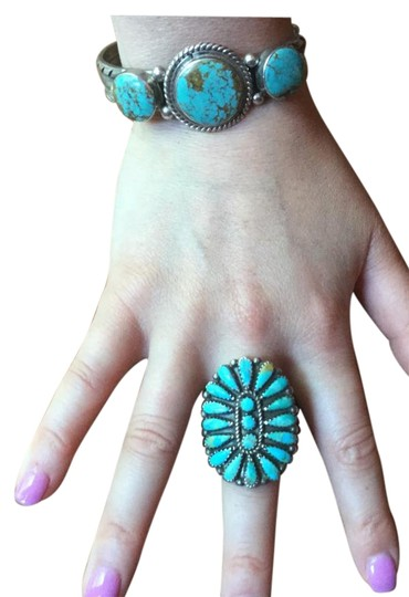 Preload https://img-static.tradesy.com/item/6725881/turquoise-and-silver-sterling-cuff-bracelet-0-3-540-540.jpg