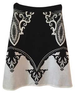 Etro Skirt Black and Off White/cream