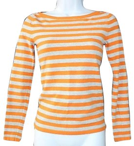 Theory Knit Top Orange/Gray