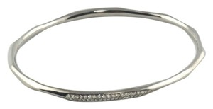 Ippolita Ippolita Wicked Silver Diamond Bangle Bracelet .925 Black Rhodium Sterling Pave