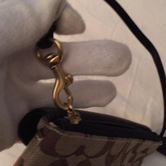 Coach Wristlet in Brown Taupe