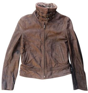 Really Wild British Style Ltd. Leather Bomber Brown/Sheepskin Leather Jacket