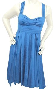 French Connection short dress Blue Cotton on Tradesy
