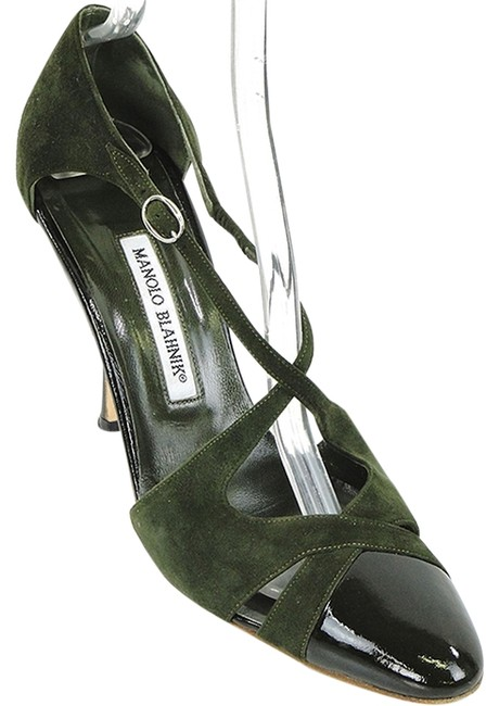 Item - Dark Green Forest Suede and Patent Leather Katiclo Pumps Size EU 40 (Approx. US 10) Regular (M, B)