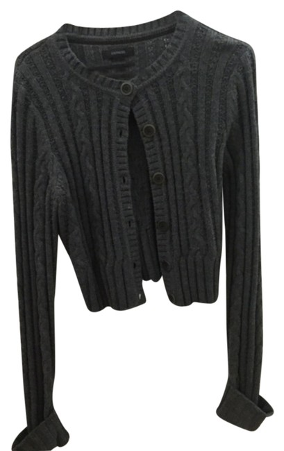 Preload https://item2.tradesy.com/images/express-gray-cropped-sweater-cardigan-size-12-l-6729916-0-0.jpg?width=400&height=650