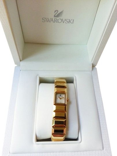 Preload https://item2.tradesy.com/images/swarovski-gold-baguette-bangle-swiss-made-watch-6731716-0-3.jpg?width=440&height=440