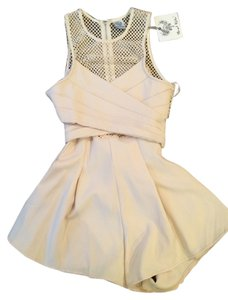 Hello Molly Mesh Mini Flowy Fitted Dress