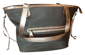 Ava Rose Gray Beach Bag