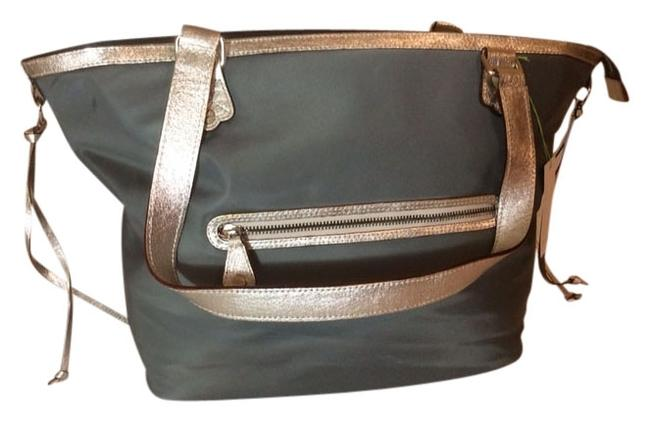 Item - New with Nylon Leather Tote For Nordstrom Gray Beach Bag