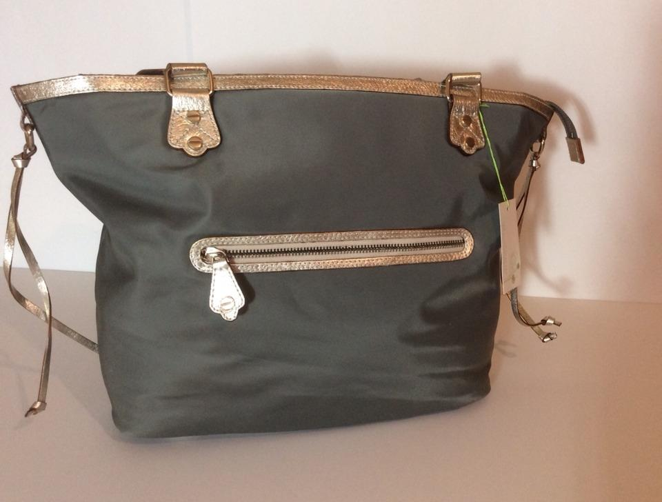 New With Nylon Leather Tote For Nordstrom Gray Beach Bag