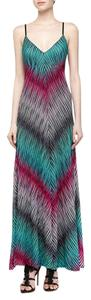 aqua Maxi Dress by Alberto Makali Summer Maxi Knit Stripe