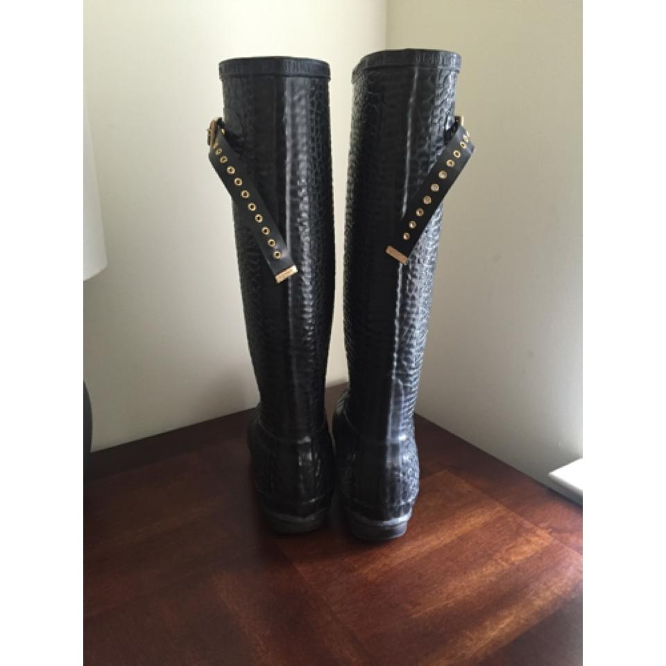 cd3bf0629e9c Hunter Jimmy Choo Rain Welly Wellie Wellington Rare Limited Edition Croc  Leopard Printed Collab Embossed Tall. 123456789101112