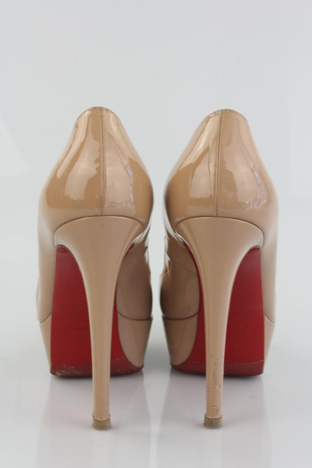 Nude Louboutin Christian 140 Patent Pumps Bianca pHUSnSFfW