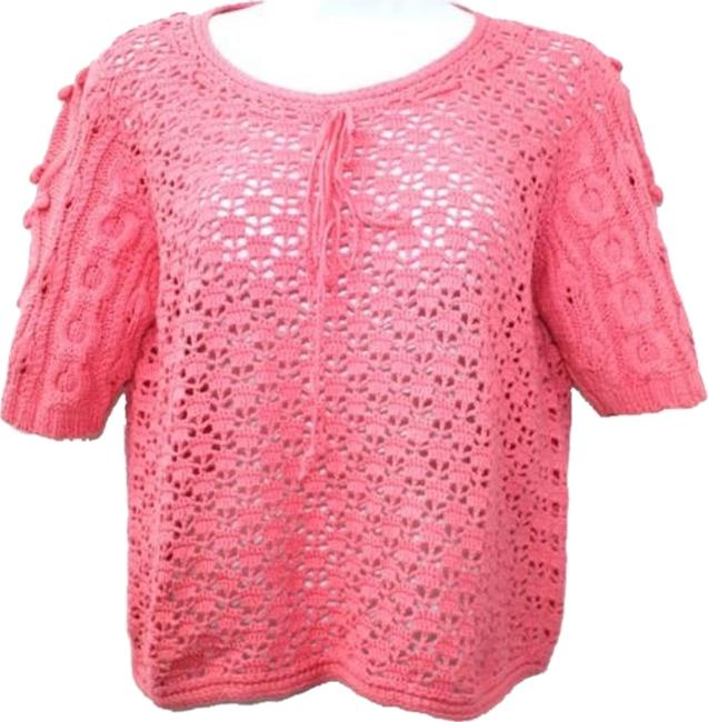 Preload https://item1.tradesy.com/images/stefanel-crocheted-cotton-m-blouse-size-8-m-6734230-0-0.jpg?width=400&height=650