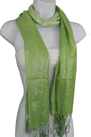 Alwaystyle4you Women Green Neck Scarf Long Soft Fabric Tie Wrap Bright Shiny Image 11
