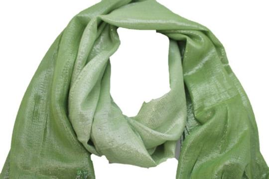 Alwaystyle4you Women Green Neck Scarf Long Soft Fabric Tie Wrap Bright Shiny Image 3