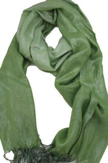 Alwaystyle4you Women Green Neck Scarf Long Soft Fabric Tie Wrap Bright Shiny Image 6