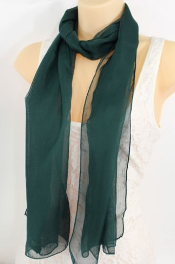 Preload https://item4.tradesy.com/images/women-fashion-long-dark-green-neck-scarf-long-soft-sheer-fabric-tie-wrap-classic-6734293-0-0.jpg?width=440&height=440