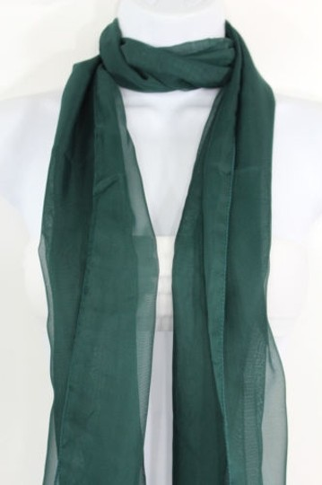 Other Women Fashion Long Dark Green Neck Scarf Long Soft Sheer Fabric Tie Wrap Classic