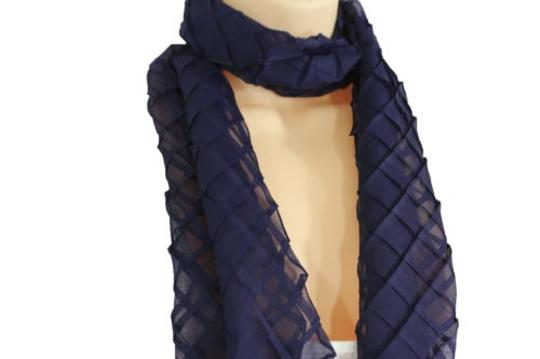 Alwaystyle4you Women Blue Neck Scarf Soft Fabric Tie Wrap Geometric Mosaic Plaid Image 10