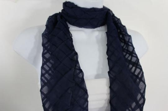 Alwaystyle4you Women Blue Neck Scarf Soft Fabric Tie Wrap Geometric Mosaic Plaid Image 2