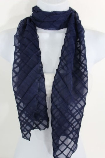 Alwaystyle4you Women Blue Neck Scarf Soft Fabric Tie Wrap Geometric Mosaic Plaid Image 4