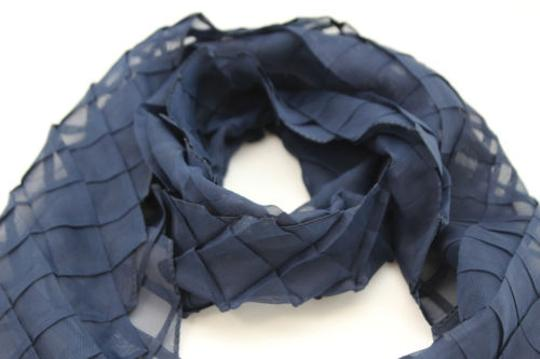 Alwaystyle4you Women Blue Neck Scarf Soft Fabric Tie Wrap Geometric Mosaic Plaid Image 5