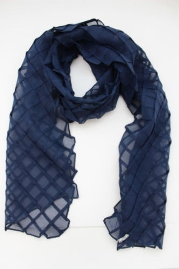 Alwaystyle4you Women Blue Neck Scarf Soft Fabric Tie Wrap Geometric Mosaic Plaid Image 7