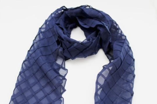 Alwaystyle4you Women Blue Neck Scarf Soft Fabric Tie Wrap Geometric Mosaic Plaid Image 9