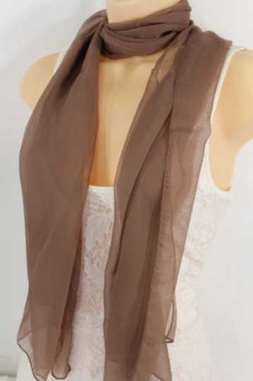 Preload https://item1.tradesy.com/images/women-fashion-long-brown-neck-scarf-long-soft-sheer-fabric-tie-wrap-classic-cool-6734320-0-0.jpg?width=440&height=440