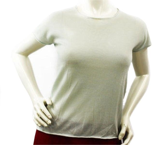White + Warren Cashmere Knit Top LIGHT GREEN